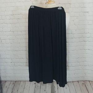 Asos black midi skirt